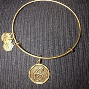 Gold 'C' Initial Alex & Ani Bracelet